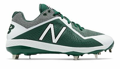 New Balance Low-Cut 4040v4 Metal Baseball Cleat Mens Shoes Green with White Size