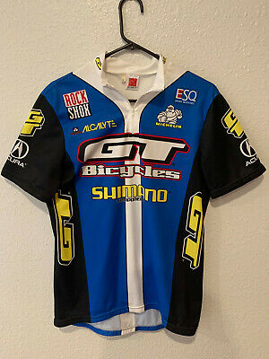 Details about  /GT Team Bicycles Rock Shox Shimano DE MARCHI Cycling Jersey size XL