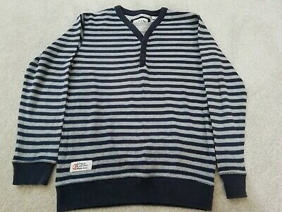 Debenhams J Jeans Jasper Conran boys blue grey striped jumper top - age 11-12