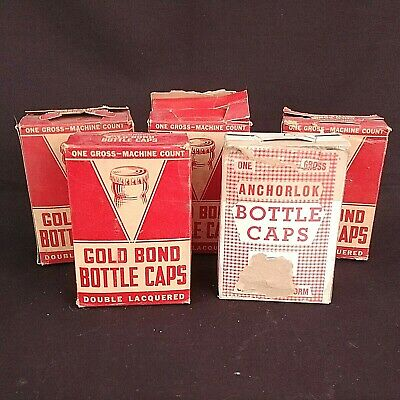 Gold Bond Bottle Caps Soda Beer 755 Count New Old Stock Cork Metal USA Made NEW
