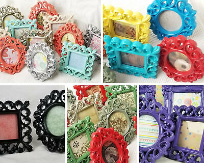 Fun Bright Multicolored Frame Tiny Little Picture Frame opening 2 x 1.75 in