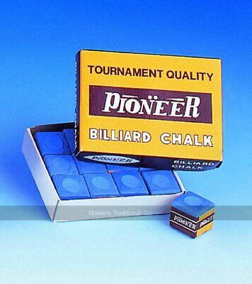 Pioneer Box of 12 cubes of Tournament Quality Chalk Blue