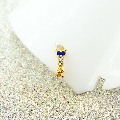 Indian Party Wear Floral Nose Ring Golden Clip On Nose Ear Pin Mother/'s Day Gift