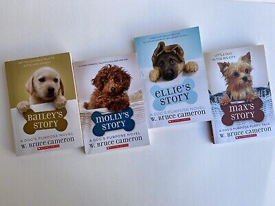 LOT 4 Girls Youth Chapter Books A Dog's Purpose Novel Bailey's Story