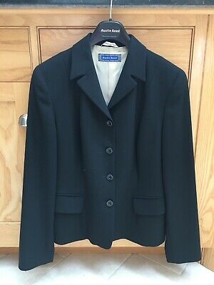 Austin Reed Ladies Navy Pinstriped Suit Size 12 29 00 Picclick Uk