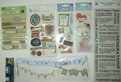 Family Puffy Stickers Dimensional Words Mom Dad Cards Scrapbooking