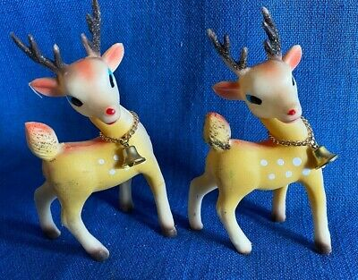 Mid Century Modern Vintage Christmas Holiday Wire Reindeer Silver Painted NOS