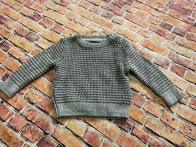 Gorgeous Baby boys jumper age 0-3 months light and dark grey immaculate cond