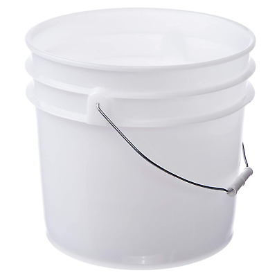 Letica Premium 3.5 Gallon Bucket, Hdpe, Natural, 144 Pack