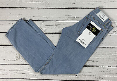 Stone Island Junior Light Blue Slim Fit Jeans Age 8 New With Tags.