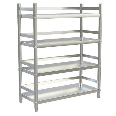 Stainless Steel Kitchen Shelf 4 Tiers Shelving Racks Commercial Catering Storage
