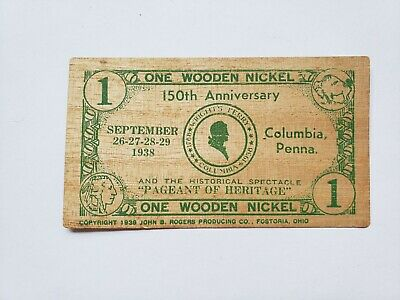 Details about  / 10TH ANNIVERSARY SOUTHEASTERN TOKEN SOCIETY 1992-2002 CLANTON,ALA WOODEN NICKEL