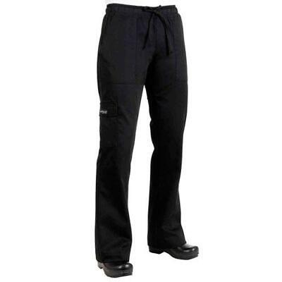 Chef Works - CPWO-BLK-2XL - Women's Black Cargo Chef Pants (2XL)