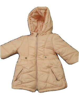 Mayoral Baby Girls 3M-24M Ruffle Trim Quilted Panel Padded Coat Rose