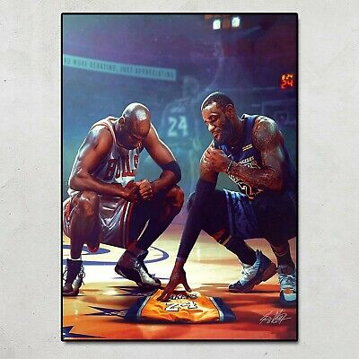 LeBron James And Michael Jordan Miss Kobe Bean Bryant Poster No Frame