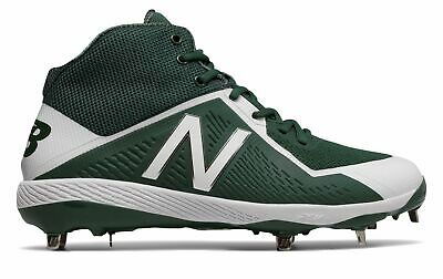 New Balance Mid-Cut 4040v4 Metal Baseball Cleat Mens Shoes Green with White Size