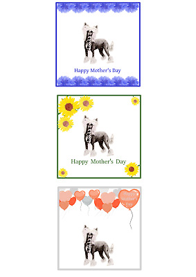 Chinese Crested Mother's Day Card Choice of 3 by Curiosity Crafts