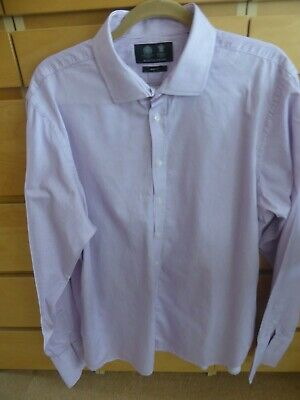 Mens Austin Reed 16 1 2r Slim Fit Pink Pin Striped Long Shirt 8 00 Picclick Uk