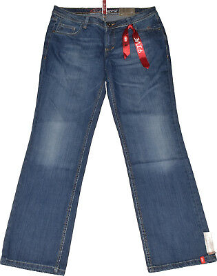 Edc by Esprit Five Jeans  Gr. 33/30  Vintage  Bootcut  Stretch  Used Look  NEU
