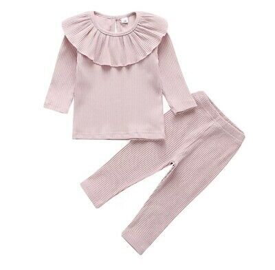 Girls Loungewear Sets With Frill