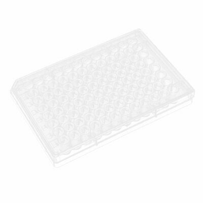 Flat Bottom 96 Wells Polystyrene Cell  Culture Plate w Lid
