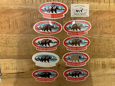 VINTAGE OILFIELD STICKER COLLECTION LOT OF 10 BEAR TOOLS ERROR AND RARE 70S-80s