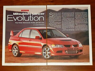 Mitsubishi Lancer Evolution Magazine Article Car And Driver Gets The Ace