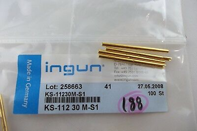 LOT OF 4 INGUN KS-112 30 M-S1, Test Probes Receptacle, NEW! Gold Plated