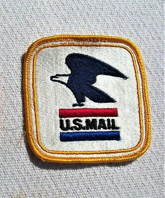 """2 'U.S. Mail' Patches-- 3 1/4"""" Square w/Eagle"""
