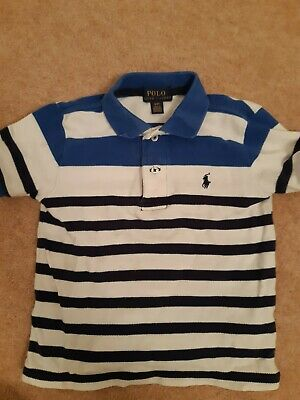 Ralph Lauren Boys Blue And White Striped Polo: Age 2