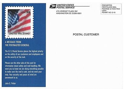 Post-911 2001 USPS Announcement Card on Mail Safety (Postmaster General Potter)