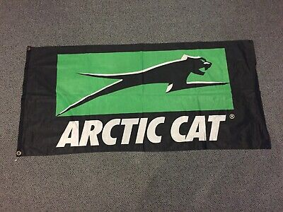 Arctic Cat Flag Snowmobile Advertisement or Machine Collectible