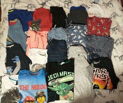 Boys clothes 9-10 11 bundle *t-shirts, jeans. Star Wars Minecraft Boden 18 items