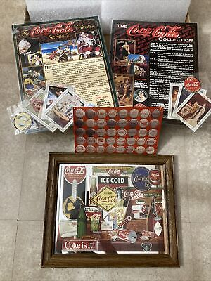 """Vintage Lot Coca-Cola Items Cards Caps POS Coke Brand Mirror """"Through The Years"""""""