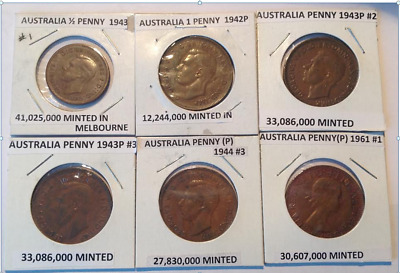Australia 24 Coin Set 1942-1969 **Including Some Rare And Low Mintage**