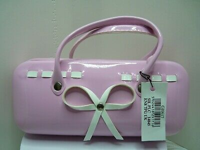 BRAND NEW WITH TAG UNUSED Pink Spectacles / Reading Glasses Case With 2 Handles