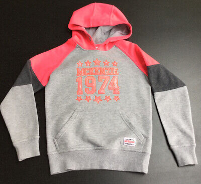 McKenzie Girls Grey Pink Hoody Sweatshirt.  Age 10-12 Years