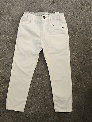 Zara Boys White Regular Skinny Jeans Age 3-4 Years
