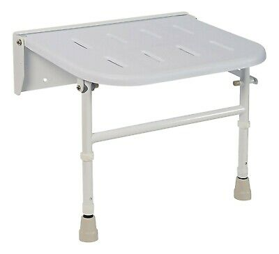 Nymas Premium Wall Mounted Shower Seat With Legs White -Model No:SB-070/WH