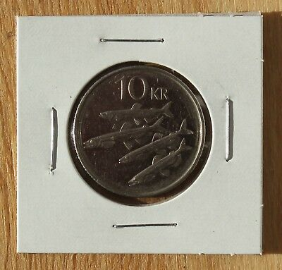 1996 Iceland 10 Kronur; Circulated