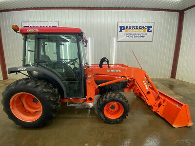 2007 Kubota L3430 Cab Hst Compact Tractor With A/C And Heat!