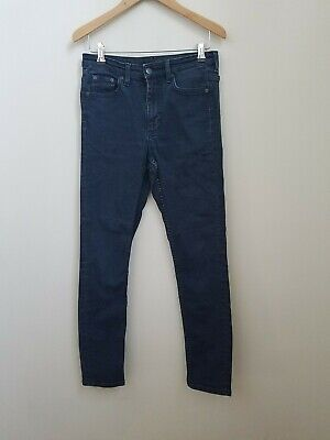 "Cos Blue 27"" Skinny Jeans. Indigo, Dark Blue. High Rise, Cropped Leg"