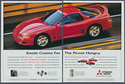 Red Mitsubishi 3000GT VR-4 Print Ad 1997 Two Pages