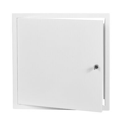 White Metal Access Panel 400mm x 400mm with Lock / Keys Inspection Door Flap