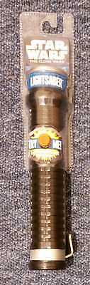 Star Wars The Clone Wars Red Lightsaber, Retractable Hasbro 2010 Dated 1999 NEW