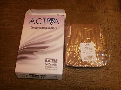 activa Class 1 14-17mmHg Below Knee Support Stockings - Sand, Size L