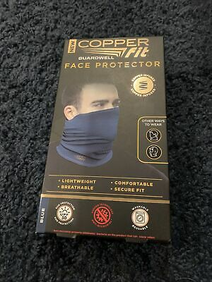 Cooper  Fit Guardwell Face Protector Mask Lightweight breathable Blue fits most