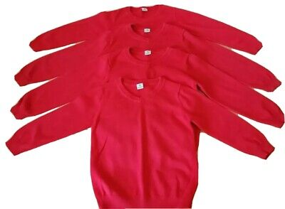 X4 Red V-Neck School Jumpers Age 6 Years