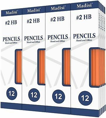 Wood-Cased #2 HB Pencils, Yellow, Pre-sharpened, 16 Packs of 12-Count, 192 in