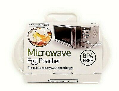 Microwave Egg Poacher To Poach 2 Eggs - Kitchen Accessory - Bpa Free - No Mess